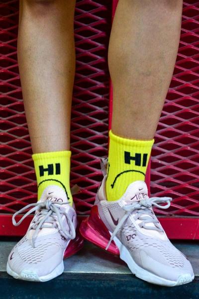Hi Bye Desenli Atletik Kadın Çorap