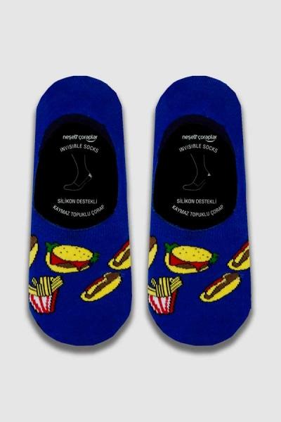 Hot Dog Desenli Babet Erkek Çorap