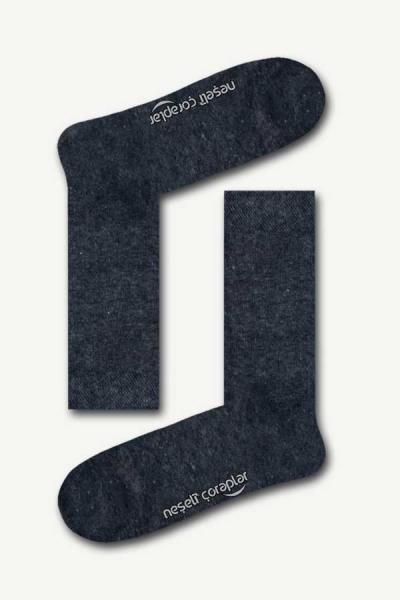 Düz Antrasit Basic Kadın Çorap