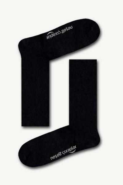 Düz Siyah Basic Kadın Çorap