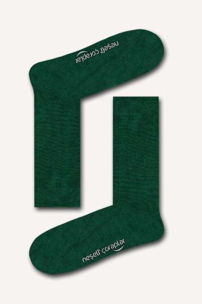 Yeşil Düz Basic Kadın Çorap