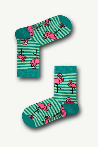 Flamingo Desenli Renkli Çocuk Çorap