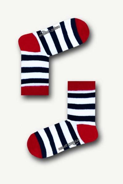 Modern Çember Desenli Renkli Çocuk Çorap