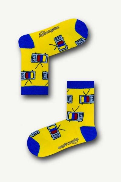 Tv Desenli Renkli Çocuk Çorap