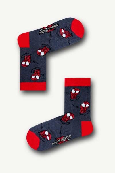 Spider Man Renkli Çocuk Çorap