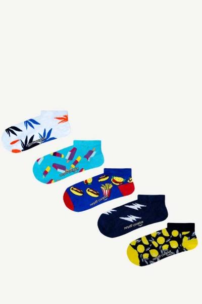 5'li Tropikal Patik Çorap Set