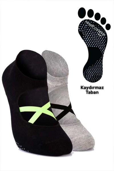 2'li Pilates ve Yoga Çorap Set 2