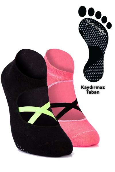2'li Pilates ve Yoga Çorap Set 1