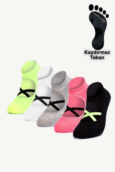 5'li Pilates ve Yoga Çorap Set