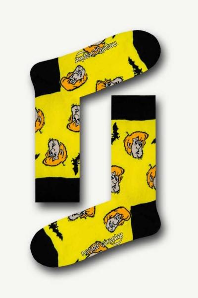 Shaggy Desenli Renkli Erkek Çorap